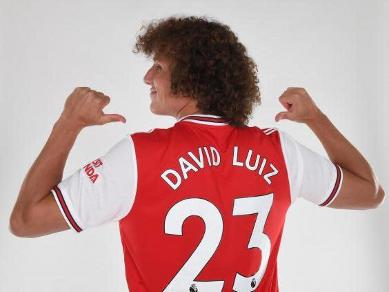 Luiz will wear the No 23 shirt at Arsenal (Getty)