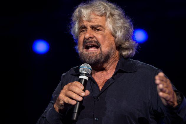NAPLES, ITALY - OCTOBER 12: Beppe Grillo founding member of the Movimento 5 Stelle (5 Star Movement) attends at