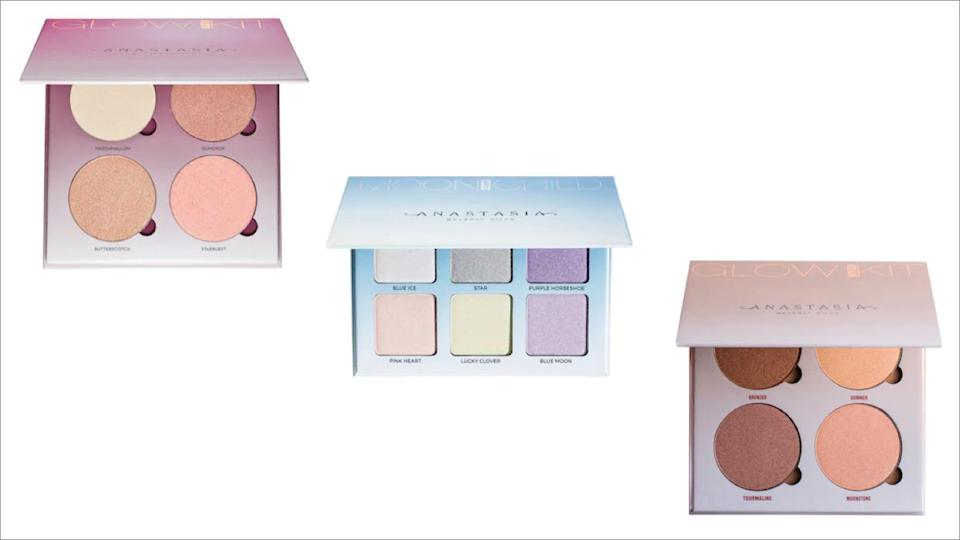 "Get this Anastasia Glow Kit in <a href=""https://fave.co/3kG9pKp"" target=""_blank"" rel=""noopener noreferrer"">Sun Dipped</a>, <a href=""https://fave.co/36Nj8tx"" target=""_blank"" rel=""noopener noreferrer"">Sugar</a>, <a href=""https://fave.co/3pzR2KO"" target=""_blank"" rel=""noopener noreferrer"">Moonchild</a> on sale for $20 (normally $40) at Sephora."