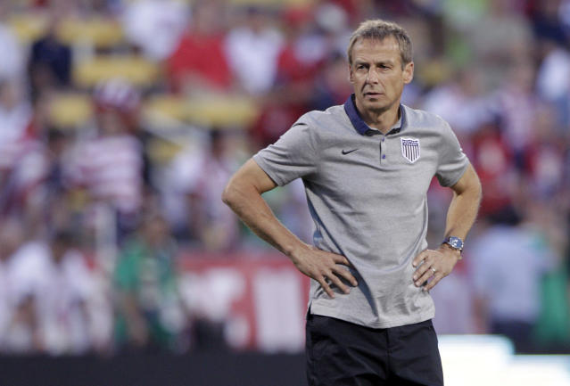 Jurgen Klinsmann is part of the reason we're getting a referendum on soccer in the United States this summer. (AP)