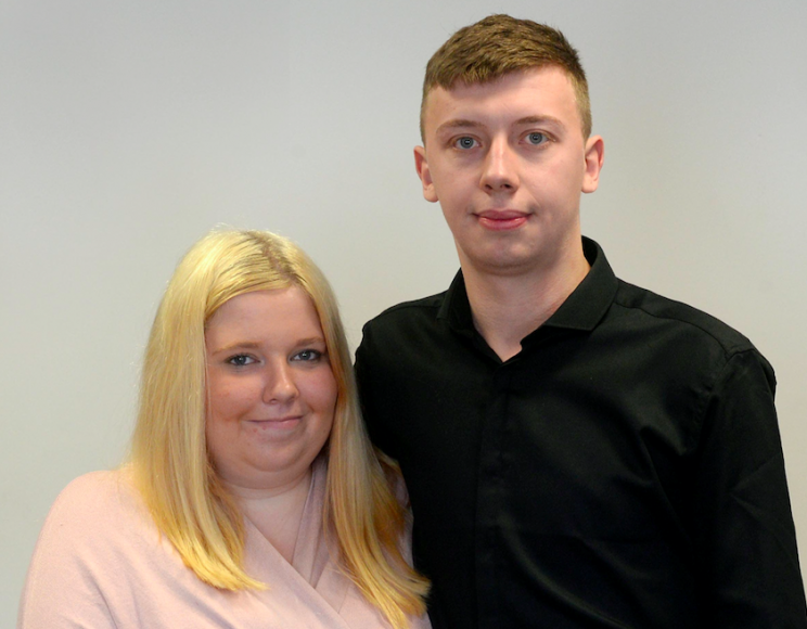 Incident: Amy Allen (seen here with partner was visiting the couple with her son Harry (SWNS)
