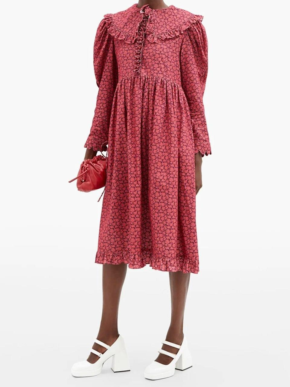 """<br><br><strong>Horror Vacui</strong> Lisi Floral Print Cotton Corduroy Dress, $, available at <a href=""""https://www.matchesfashion.com/products/Horror-Vacui-Lisi-floral-print-cotton-corduroy-dress%09-1382893"""" rel=""""nofollow noopener"""" target=""""_blank"""" data-ylk=""""slk:MatchesFashion.com"""" class=""""link rapid-noclick-resp"""">MatchesFashion.com</a>"""