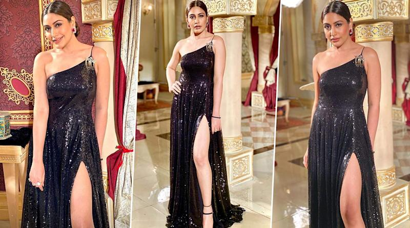Surbhi Chandna Rocks a Thigh High Slit Gown For Naagin 5 Episode! (View Pics)