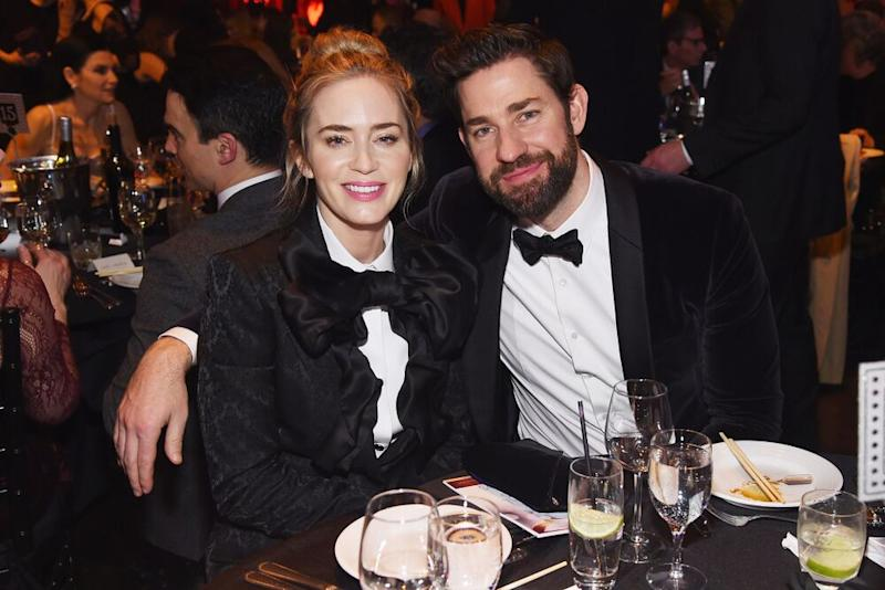 Emily Blunt (L) and John Krasinski | Jamie McCarthy/Getty