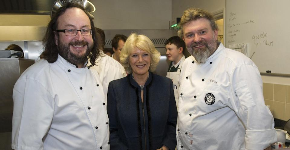 The Hairy Bikers with the Duchess of Cornwall (PA Images)