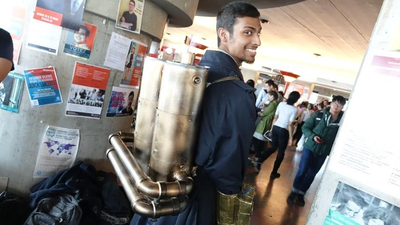 Steampunk creations let students show off flights of fancy
