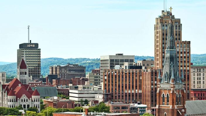 view of the city of syracuse in upstate new york.