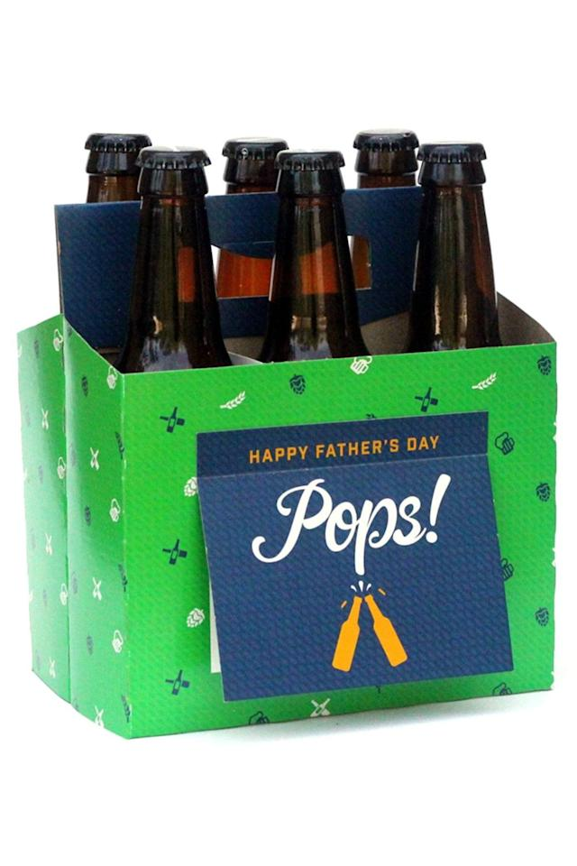 """<p><strong>Beer Greetings</strong></p><p>amazon.com</p><p><strong>$15.95</strong></p><p><a href=""""https://www.amazon.com/dp/B01EUCHNDU?tag=syn-yahoo-20&ascsubtag=%5Bartid%7C10049.g.31249681%5Bsrc%7Cyahoo-us"""" target=""""_blank"""">Shop Now</a></p><p>The best gift you could give some dads is a free afternoon to do whatever they want and a six-pack of beers to take with them. This box is a like a bottle carrier and Father's Day card rolled into one.</p>"""