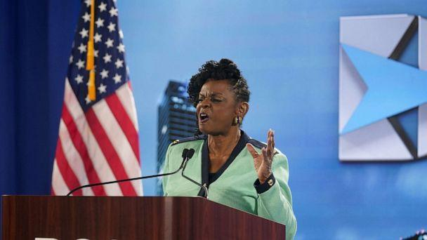 PHOTO: Representative Gwen Moore speaks at the Democratic National Convention in Milwaukee, Aug. 17, 2020. (Morry Gash/Pool via Reuters)