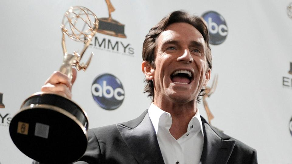 Jeff Probst Jeff Probst holds the award for outstanding host for a reality or reality-competition program for his work on
