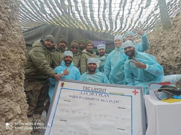 Team of Army doctors and soldiers after the surgery in Eastern Ladakh