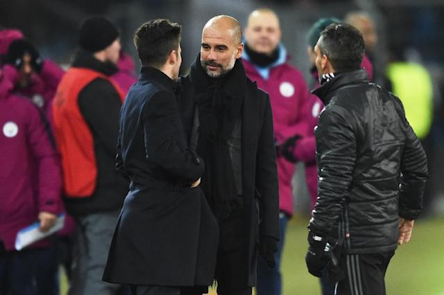 """Road to Wigan: Manchester City boss Pep Guardiola says he """"wasn't good enough"""" to play for Wigan (AFP Photo/SEBASTIEN BOZON)"""