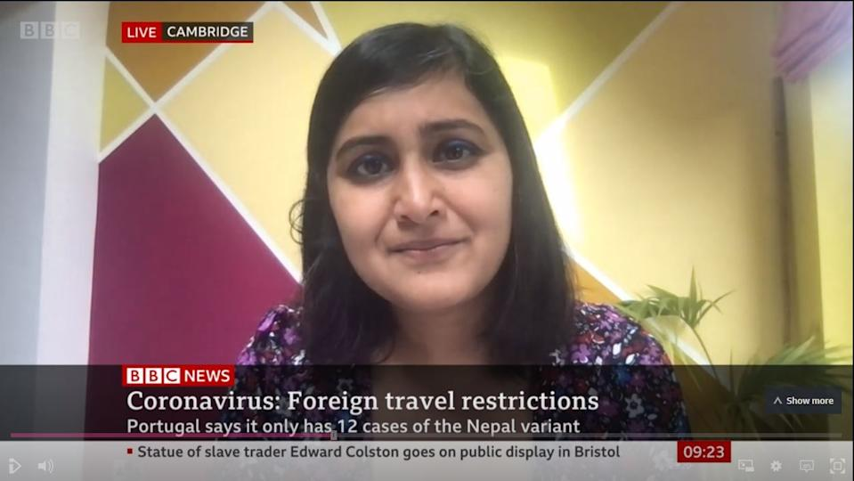 Professor Deepti Gurdasani branded the UK's border policy as 'ridiculous' and 'unethical' in a television interview (BBC News)