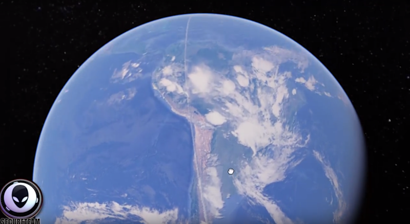 The line spans 2,000km from Antartica to the North Pole. Photo: YouTube/secureteam10