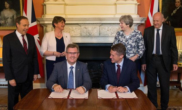 The £2bn confidence and supply deal with the DUP was struck after May lost her majority at the last general election