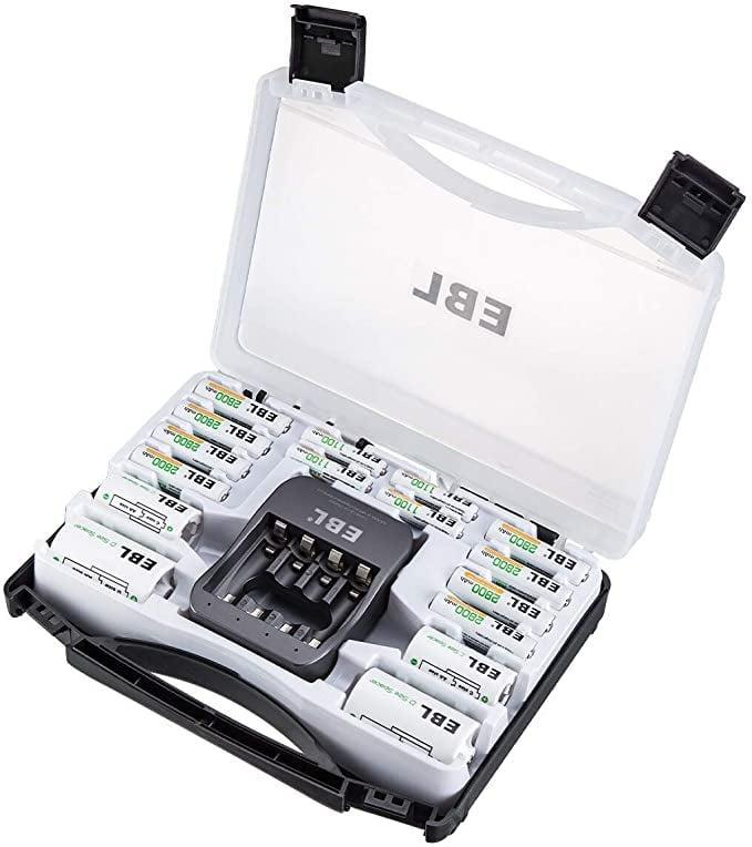 <p>For all devices in your home that require batteries, invest in the <span>EBL Rechargeable Batteries Black Box</span> ($41). It comes with 8 AA Batteries, 4 AAA Batteries, C/D batter adapters, and the batter charger all in one convienent case!</p>