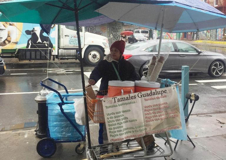 Mexican Guadalupe Galicia, 40, has been selling tamales and rice pudding for more than 20 years in New York. She has paid about $12,000 in fines for not having a permit to sell food