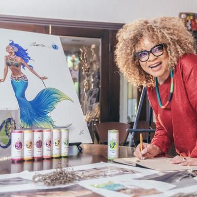 Hot off creating costumes for one of the biggest superhero movies of the year, Ruth E. Carter takes inspiration from SpikedSeltzer's mermaid heroine to design her first-ever mermaid costume.