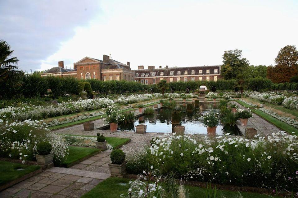 """<p>Finished in 2017, the garden is filled with white flowers and foliage that honor Diana's life, image, love of gardens, and iconic style—like her fabulous wedding gown, designed by David and Elizabeth Emanuel. </p><p>On July 1, 2021 (what would be the royal's 60th birthday), Kensington Palace will install a statue of Princess Diana at her favorite spot on the grounds: the Sunken Garden. Prince William and Henry recently announced plans for the statue in a <a href=""""https://twitter.com/byQueenVic/status/1299287442449674244"""" rel=""""nofollow noopener"""" target=""""_blank"""" data-ylk=""""slk:rare joint statement"""" class=""""link rapid-noclick-resp"""">rare joint statement</a>.<br></p>"""