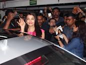 The Bachchan Bahu and ex-Miss World grabs a lot of attention everywhere she goes.