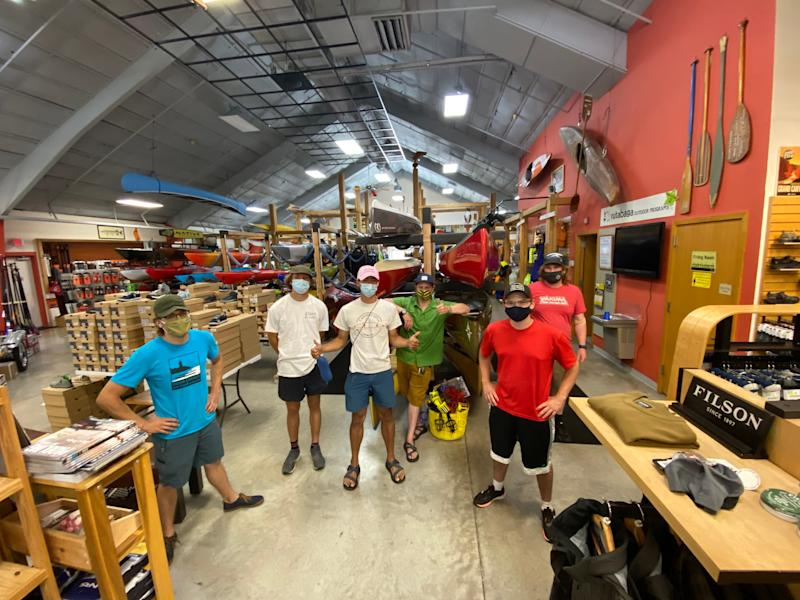 Rutabaga canoe and kayak shop in Madison is open again with the staff taking many COVID-19 safety precautions