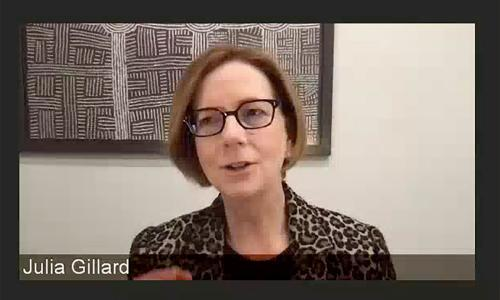 Julia Gillard says rewarding carers and women should be 'new normal' after Covid-19