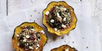 """<p>This good-for-you side is packed with antioxidants, whole grains, and will keep any vegetarian — and carnivore — happily satiated.</p><p><em><strong>Get the recipe at <a href=""""https://www.goodhousekeeping.com/food-recipes/healthy/a46045/quinoa-stuffed-acorn-squash-with-cranberries-and-feta-recipe/"""" rel=""""nofollow noopener"""" target=""""_blank"""" data-ylk=""""slk:Good Housekeeping."""" class=""""link rapid-noclick-resp"""">Good Housekeeping.</a></strong></em> </p> <p><strong>__________________________________________________________ </strong></p><p><em>Want more recipes? <a href=""""https://subscribe.hearstmags.com/subscribe/womansday/253396?source=wdy_edit_article"""" rel=""""nofollow noopener"""" target=""""_blank"""" data-ylk=""""slk:Subscribe to Woman's Day"""" class=""""link rapid-noclick-resp"""">Subscribe to Woman's Day</a> today and get <strong>73% off your first 12 issues</strong>. And while you're at it, <a href=""""https://link.womansday.com/join/3o9/wdy-newsletter"""" rel=""""nofollow noopener"""" target=""""_blank"""" data-ylk=""""slk:sign up for our FREE newsletter"""" class=""""link rapid-noclick-resp"""">sign up for our FREE newsletter</a> for even more of the Woman's Day content you want.</em></p>"""