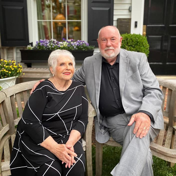 April Ponnuru's parents, Don and Shirley Foster, in Alexandria, Virginia, in May 2020.