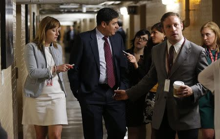 U.S. Rep. Labrador talks to reporters at the U.S. Capitol building in Washington