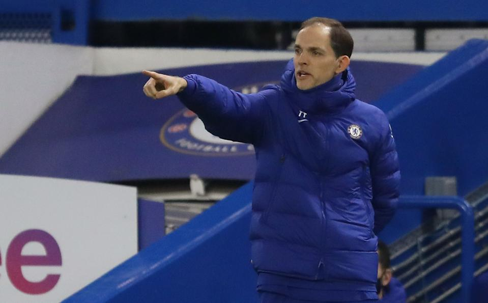 New Chelsea manager Thomas Tuchel during the match against Wolverhampton Wanderers.