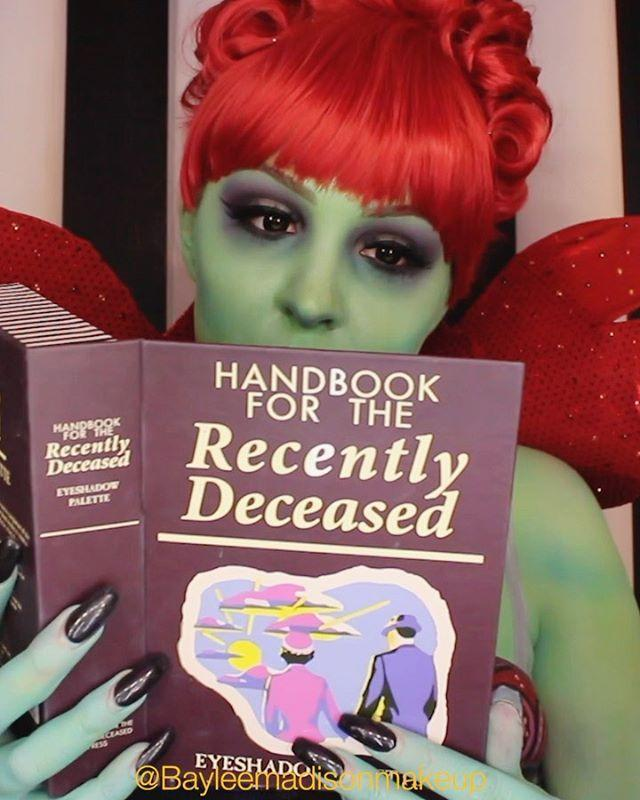 "<p>Hope you're not afraid of a little body paint, because you'll need it to turn into the receptionist of the afterlife from <em>Beetlejuice</em>.</p><p><a class=""link rapid-noclick-resp"" href=""https://www.amazon.com/Mehron-Makeup-Paradise-Paint-Amazon/dp/B00VF3AF7Y?tag=syn-yahoo-20&ascsubtag=%5Bartid%7C10055.g.34302275%5Bsrc%7Cyahoo-us"" rel=""nofollow noopener"" target=""_blank"" data-ylk=""slk:SHOP GREEN BODY PAINT"">SHOP GREEN BODY PAINT</a></p><p><a href=""https://www.instagram.com/p/B35zRoCA0mK/&hidecaption=true"" rel=""nofollow noopener"" target=""_blank"" data-ylk=""slk:See the original post on Instagram"" class=""link rapid-noclick-resp"">See the original post on Instagram</a></p>"