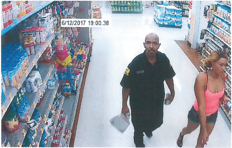 Josie Berrios, right, and Michael Davis, left, seen on surveillance video at Wal-Mart in Ithaca the night of June 12, 2017, in the hours before Josie Berrios was murdered.