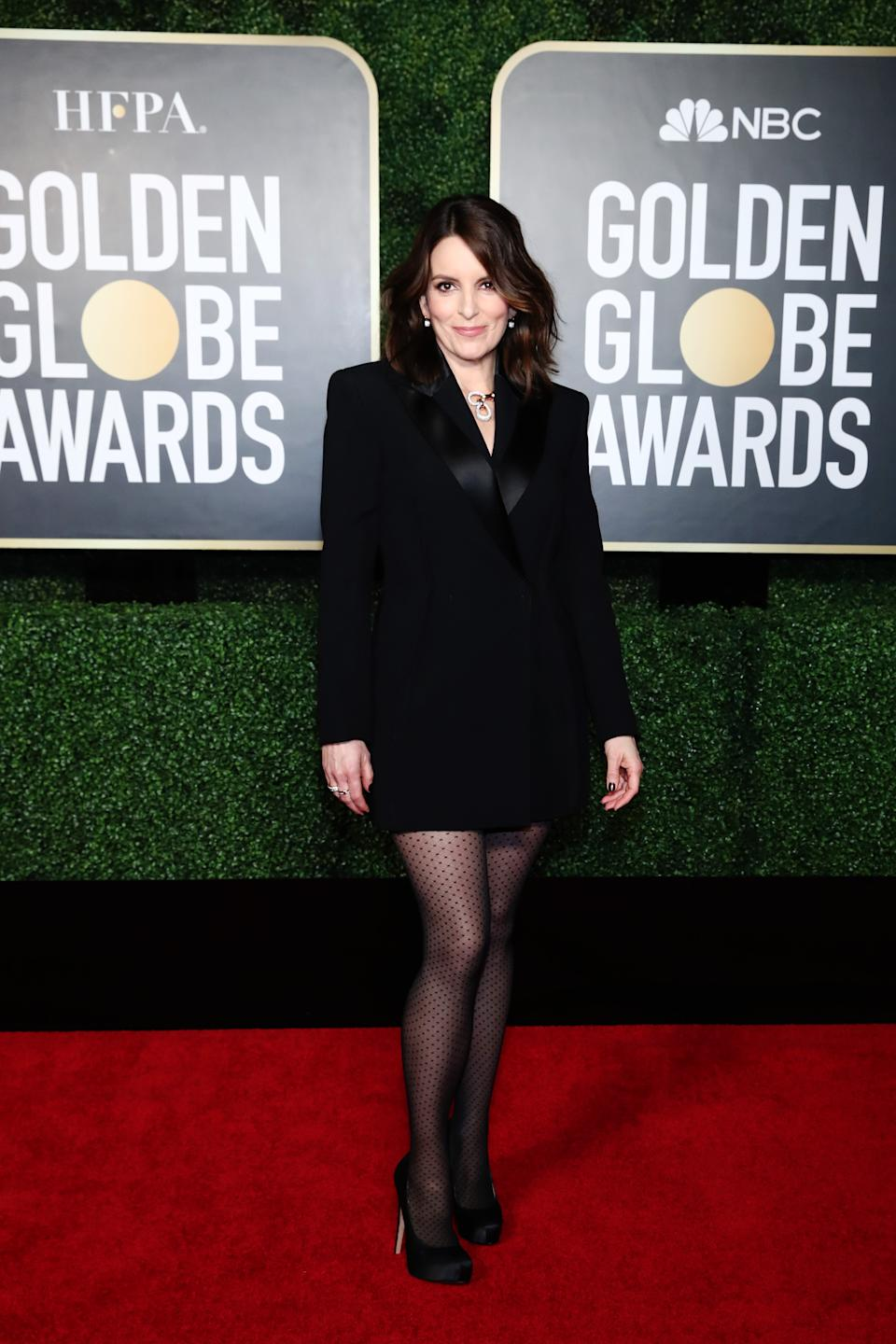 Co-host Tina Fey attends the 78th Annual Golden Globe Awards held at The Rainbow Room and broadcast on February 28, 2021 in New York, New York. -- (Photo by Cindy Ord/NBCUniversal/NBCU Photo Bank via Getty Images)