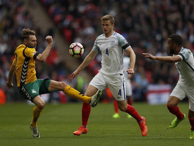 Dier plays in midfield for England (AFP/Getty Images)
