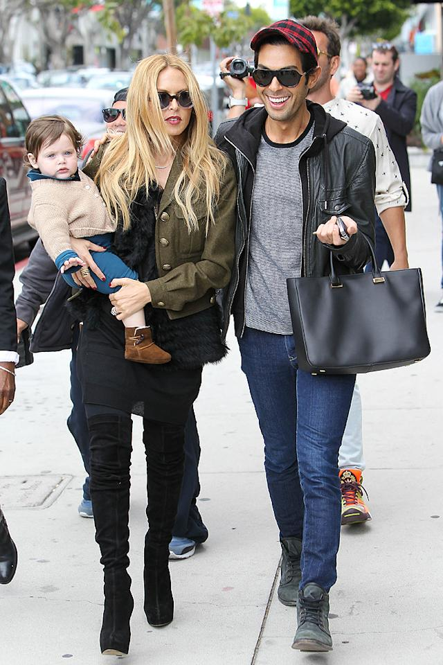 Of course, Rachel Zoe's son is well-dressed! The stylist-turned-designer  hit the shops on Robertson Boulevard with 11-month-old Skyler Morrison  Berman and a friend in L.A. on Tuesday. (2/28/2012)