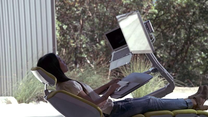 The Altwork Signature Station allows you to lie down while you work. [Photo: Altwork]