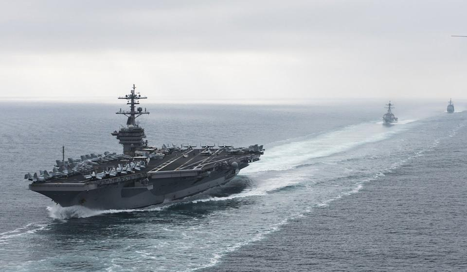 A US aircraft carrier strike group headed by the USS Theodore Roosevelt (pictured) joined the 7th Pacific Fleet in the Asia-Pacific region. Photo: AFP