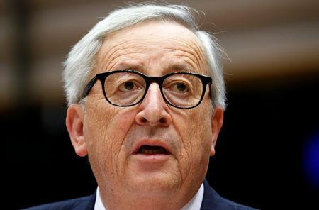 European Commission President Juncker addresses the European Parliament in Brussels