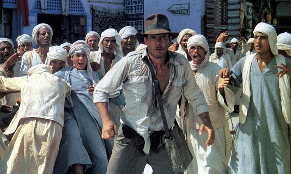 RAIDERS OF THE LOST ARK (US 1981) LUCASFILMS/PARAMOUNT PICTURES HARRISON FORD Picture from the Ronald Grant Archive Indiana Jones Spielberg 1981