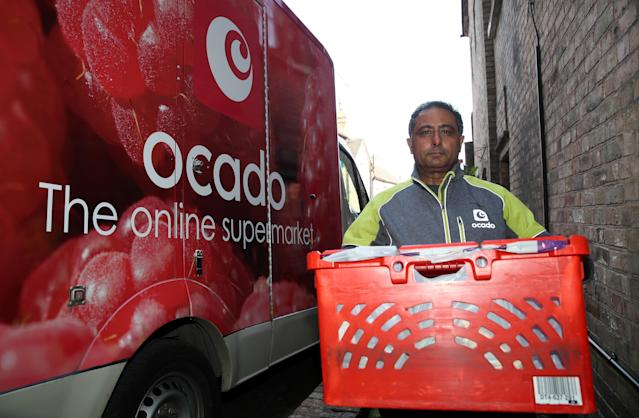 Ocado has benefitted from a shift towards online shopping during the coronavirus pandemic. (Nick Potts/PA Images via Getty Images)