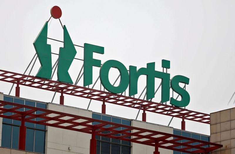 A Fortis hospital building is pictured in Gurgaon
