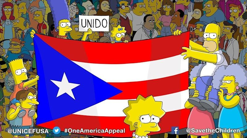'The Simpsons' Got All Of Springfield To Show Love For Puerto Rico