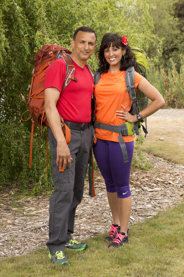 "Father/Daughter team Hoskote and Naina Venkatesh compete in a sprint around the globe for $1 million dollars on the new season of ""The Amazing Race."""