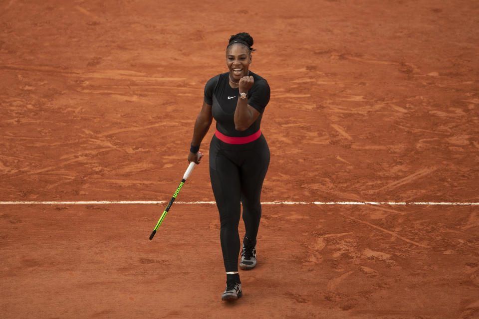 Serena Williams at the 2018 French Open. (Photo: Xin Li/Getty Images)