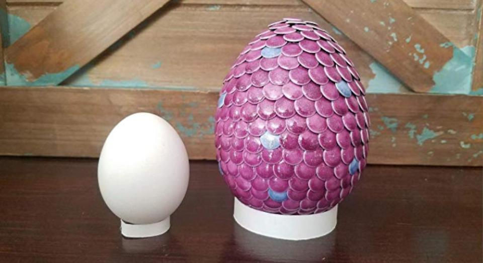 The eggs change to be blue or pink to denote the gender at your reveal party. [Photo: Amazon]