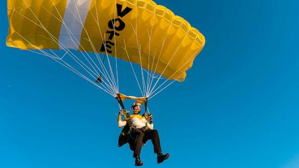 PHOTO: The Highlight Pro Skydiving Team, an all-female team of 11 highly skilled skydivers, is doing a series of jumps at events across the country to mark the 100th anniversary of the passage of the 19th Amendment, guaranteeing women's right to vote. (Highlight Pro Skydiving Team)