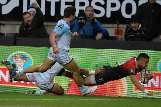 Winger Matthis Lebel dived over for the second Toulouse try (AFP Photo/PASCAL PAVANI)