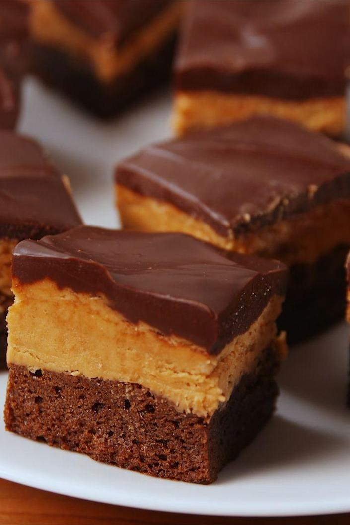"""<p>It's chocolate and peanut butter. What more could you want?</p><p>Get the recipe from <a href=""""https://www.delish.com/cooking/recipe-ideas/recipes/a53323/buckeye-brownies-recipe/"""" rel=""""nofollow noopener"""" target=""""_blank"""" data-ylk=""""slk:Delish"""" class=""""link rapid-noclick-resp"""">Delish</a>.</p>"""