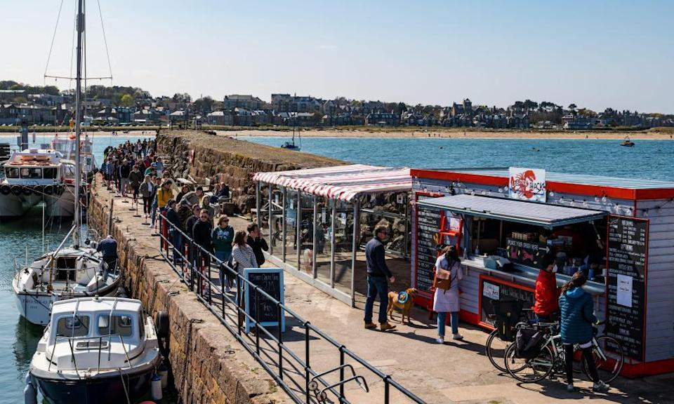 The queue at the Lobster Shack