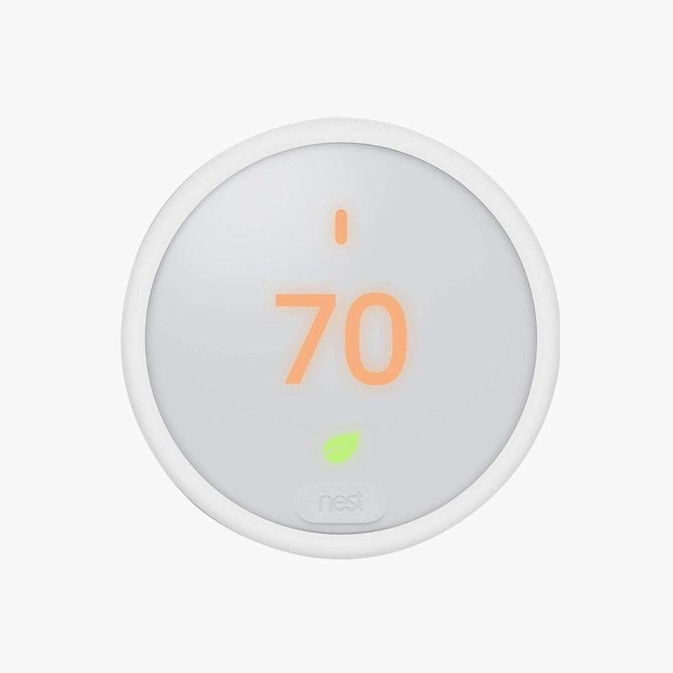 "Make sure your home is always the right temperature, whether you're there or not, with this tech-savvy thermostat. $139, AMAZON. <a href=""https://www.amazon.com/Nest-T4000ES-Thermostat-Works-Alexa/dp/B074NBTCY7"" rel=""nofollow noopener"" target=""_blank"" data-ylk=""slk:Get it now!"" class=""link rapid-noclick-resp"">Get it now!</a>"